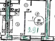 1 комнатная на  Лунной 43 в